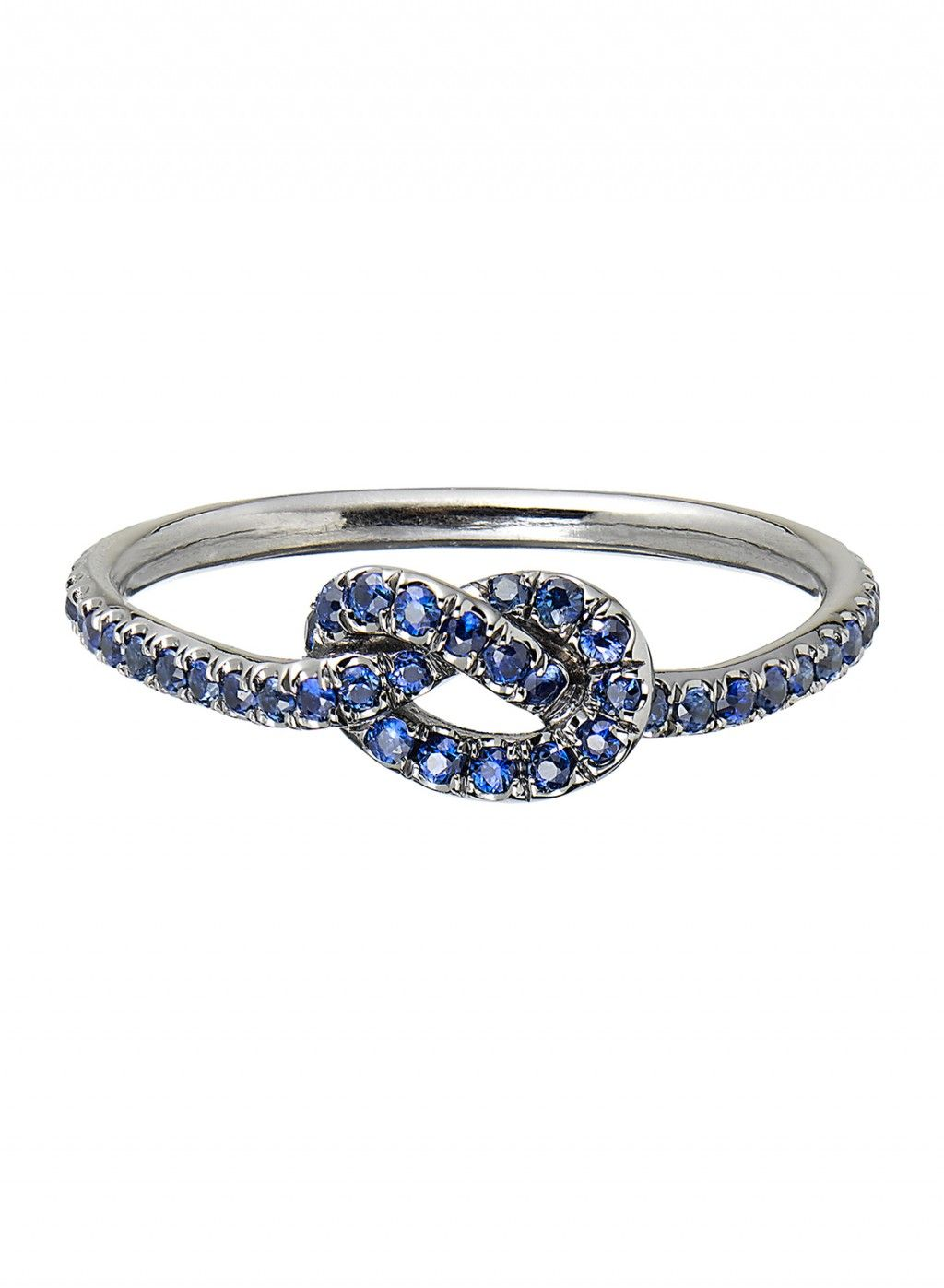 Sapphire and Black Gold Love Knot Ring – Finn Jewelry