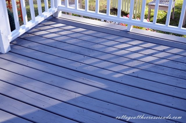 We Finally Stained Our Deck With A Beautiful Durable Solid Color Stain