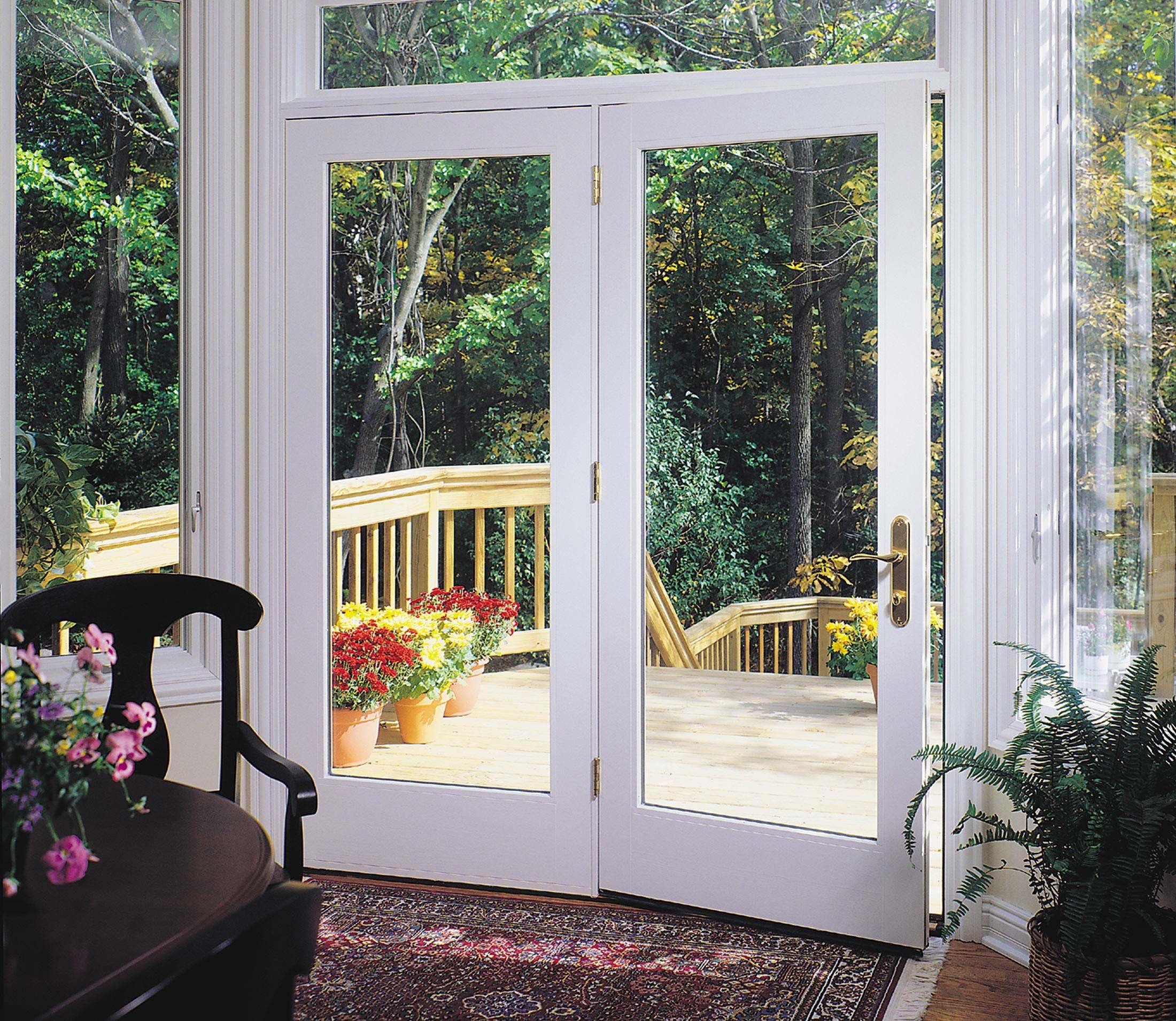 Sliding glass patio doors pella - Pella Proline 450 Series Hinged Patio Door Pella Com