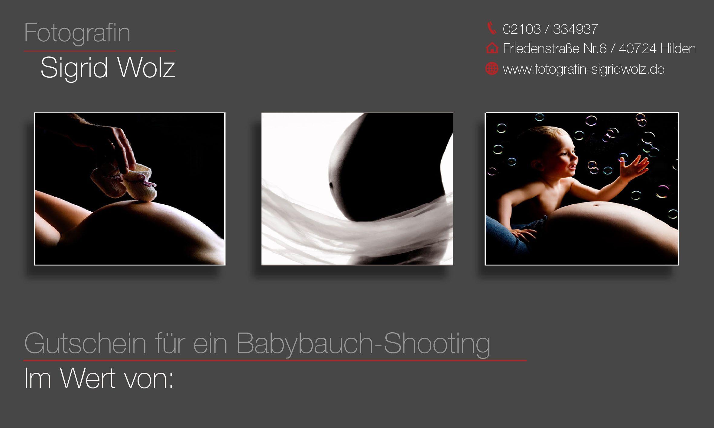 Gutschein Fotoshooting Vorlage