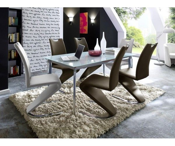 Table de salle à manger design en verre - Meuble moderne - Meuble et - salle a manger design moderne