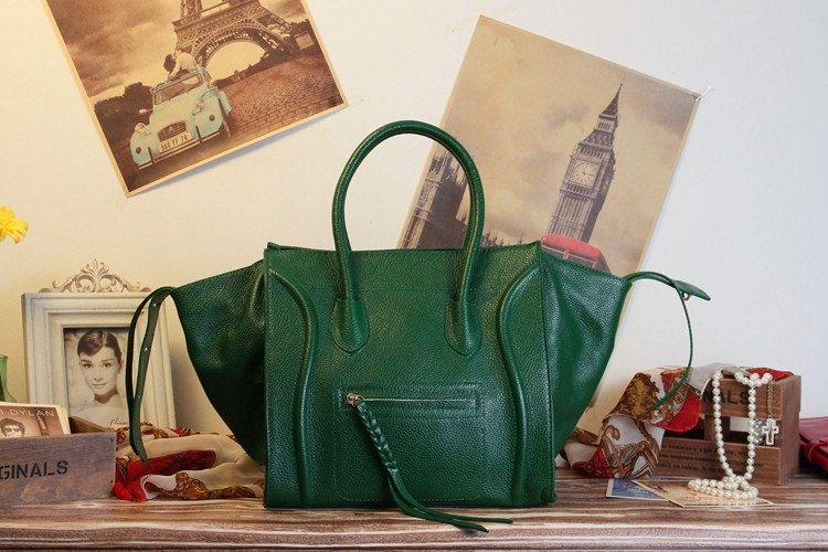Leather Tote Bag - Ipad Bag - Handbag  - Succeeding bag-Briefcase Bag purse/handbags Bags  in  Dark Green. $89.99, via Etsy.