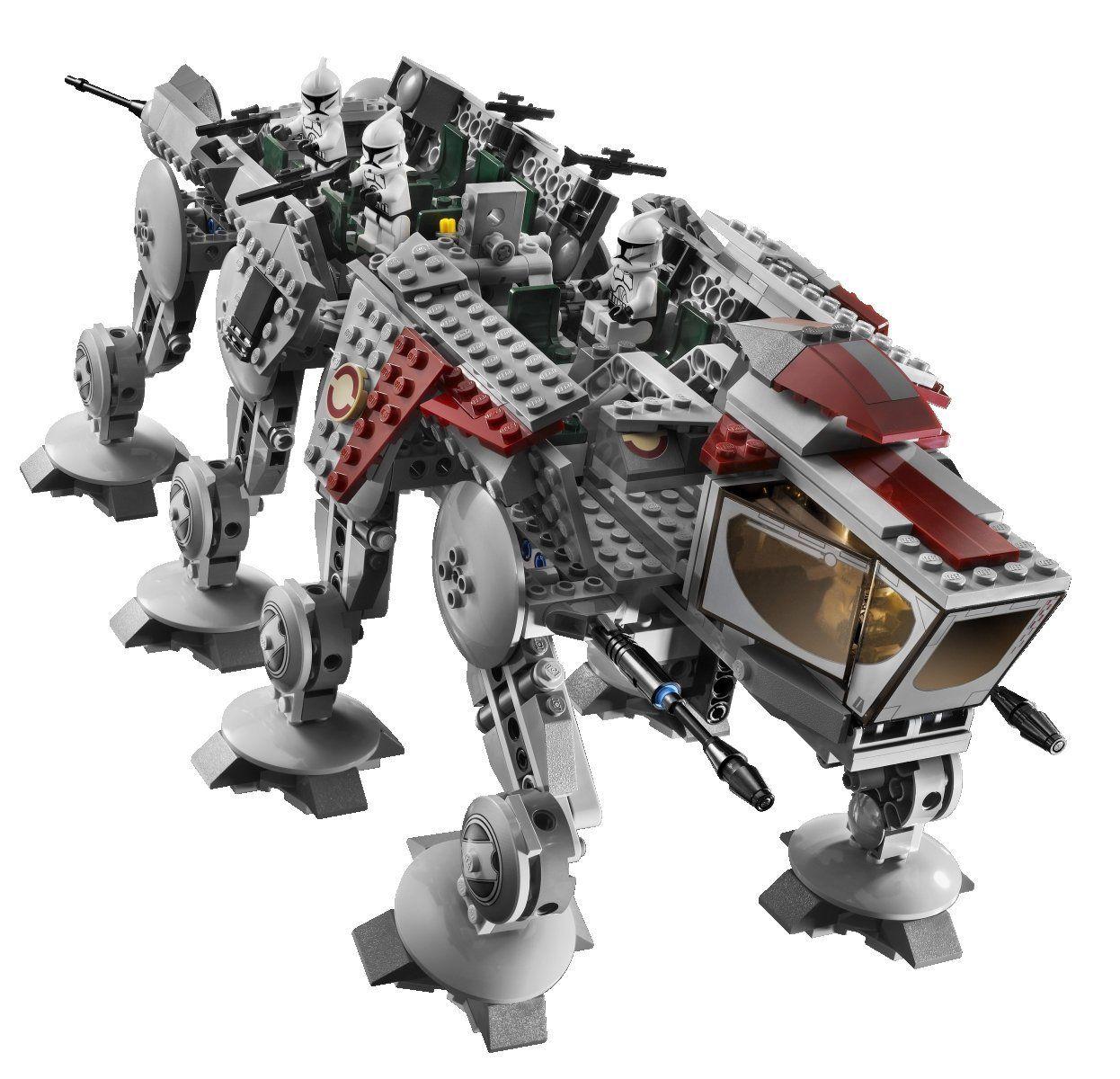 amazoncom lego star wars republic dropship with at ot walker 10195