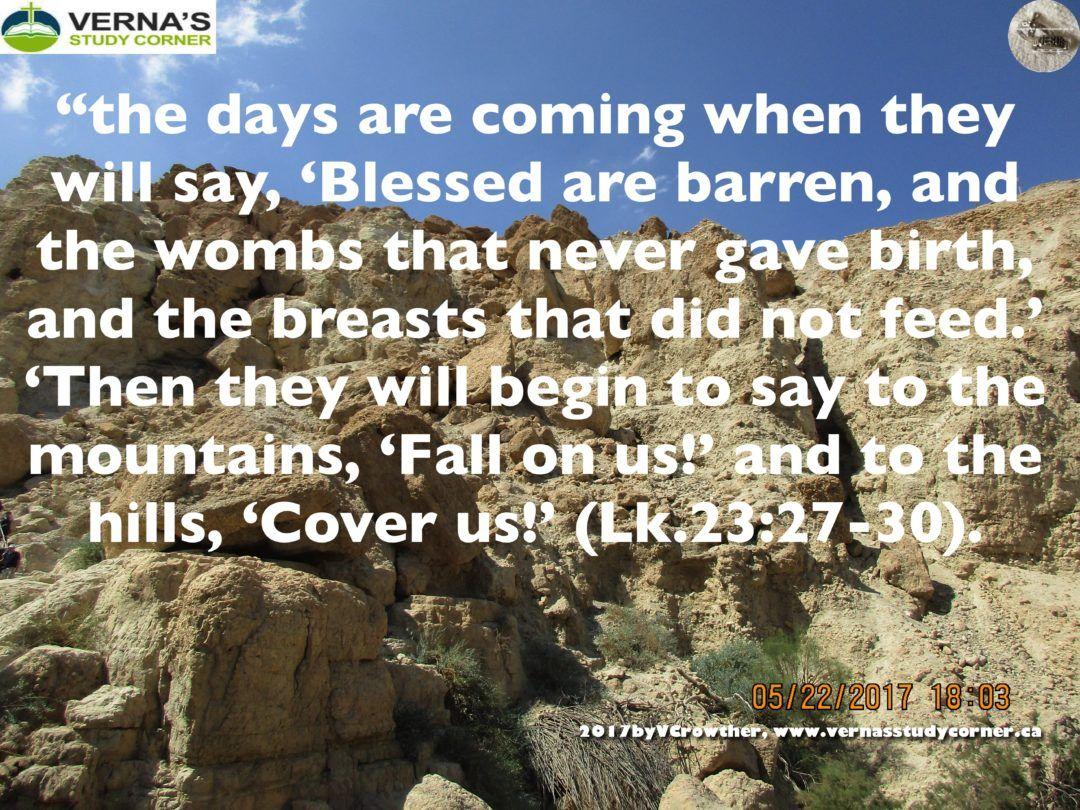"""WAS YESHUA/JESUS PROPHESYING TO WOMEN OF THE LAST DAYS WHEN . . .. . . ?"" 03.04.18 - Verna's Study Corner"