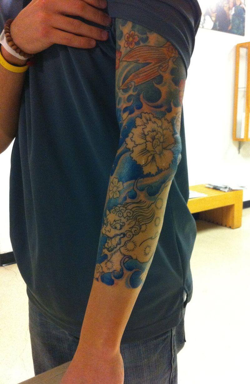 Tattoo And Sleeve: Japanese Blue Waves Tattoo Sleeve