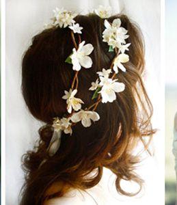 Holidaying bride garland hair accessory Flower ornament 10PCS $68.00