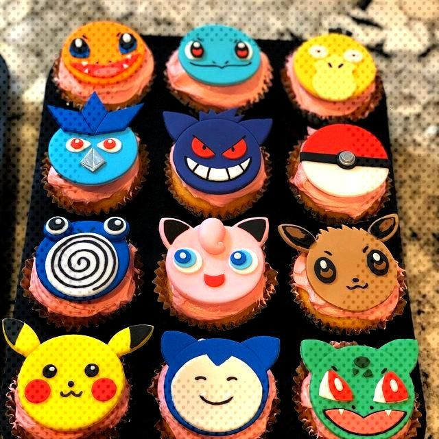 Pokemon Cupcake Toppers made by Lily Jiang -