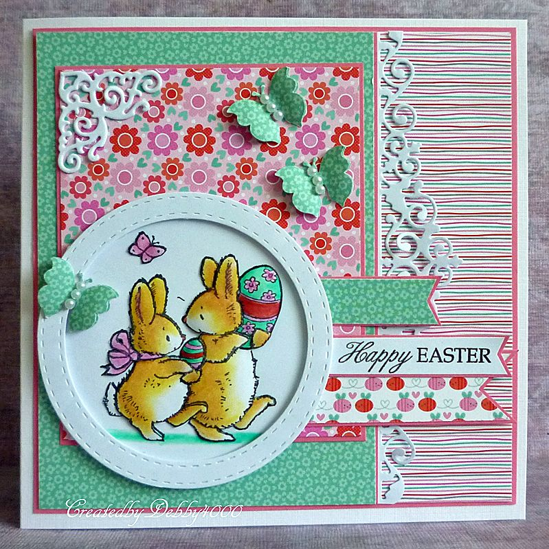 A Scrapjourney: Easter Bunnies; love the layout