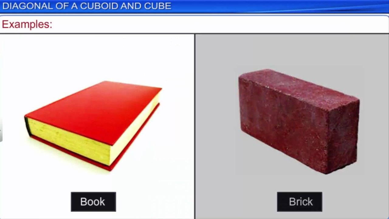 Cube, cuboid and cylinder.