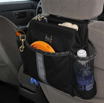 I'll be using this on my road trips with the dogs.  Love that I can pack their food inside.