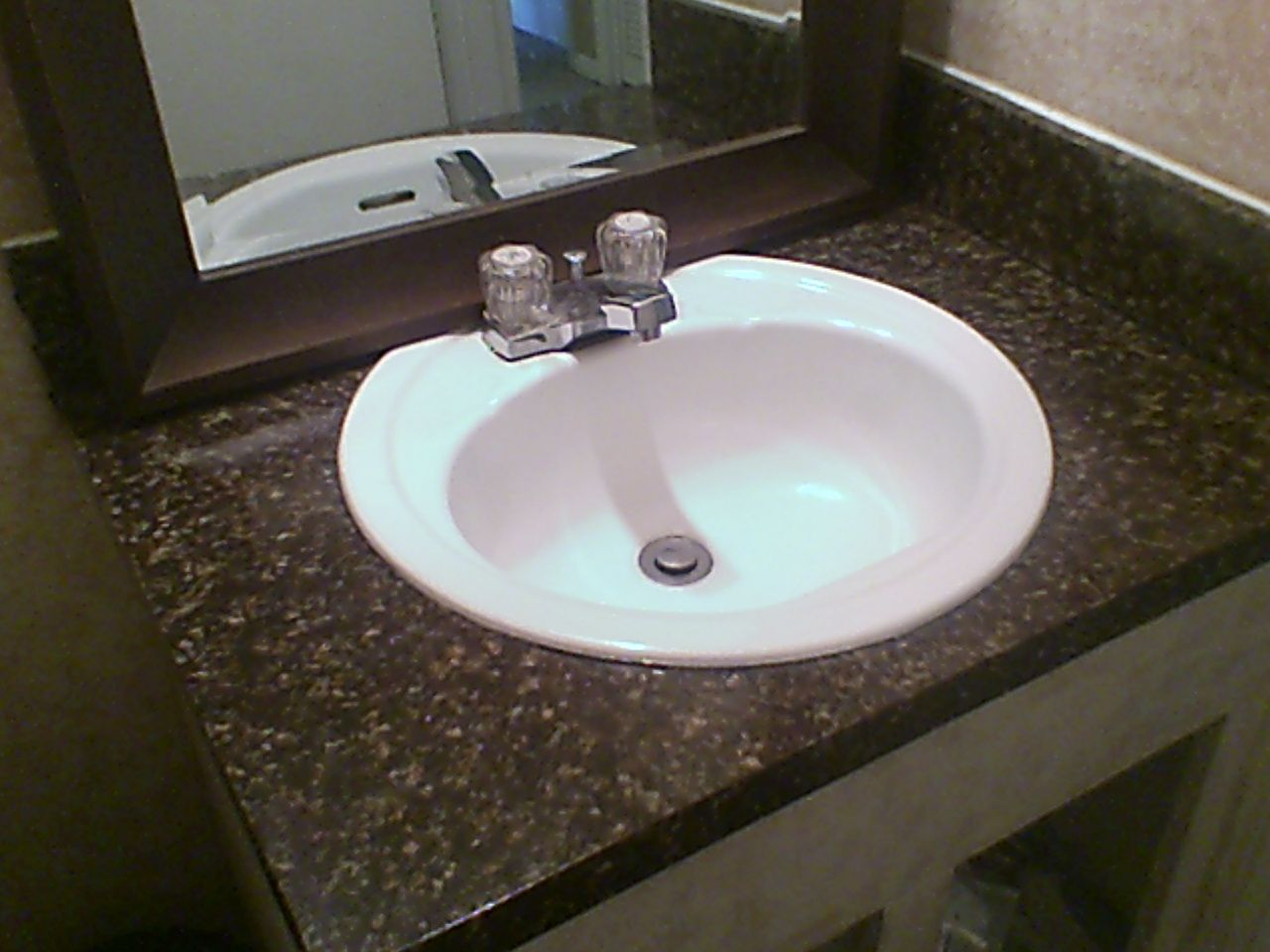 Guest Bathroom Formica Countertop Re Done In Chocolate Brown Giani Granite  Countertop Paint.