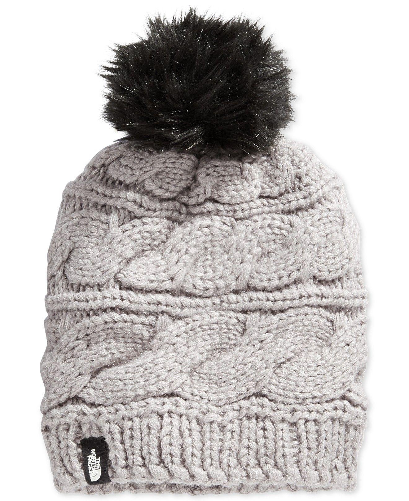 6aa266fcc The North Face Faux-Fur-Trim Pom Pom Hat - Women - Macy's   fashion ...