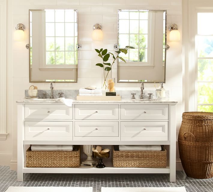 Kensington Rectangular Pivot Mirror Pottery Barn Bathroom Pottery Barn Bathroom Vanity Barn Bathroom