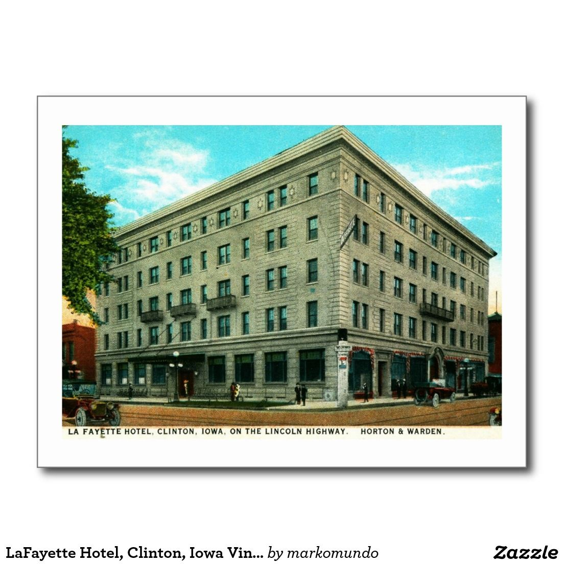 Lafayette Hotel Clinton Iowa Vintage Postcard And