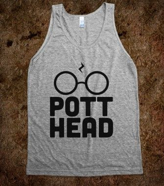 Pott Head Tank - Nerd Shirts - Skreened T-shirts, Organic Shirts, Hoodies, Kids Tees, Baby One-Pieces and Tote Bags