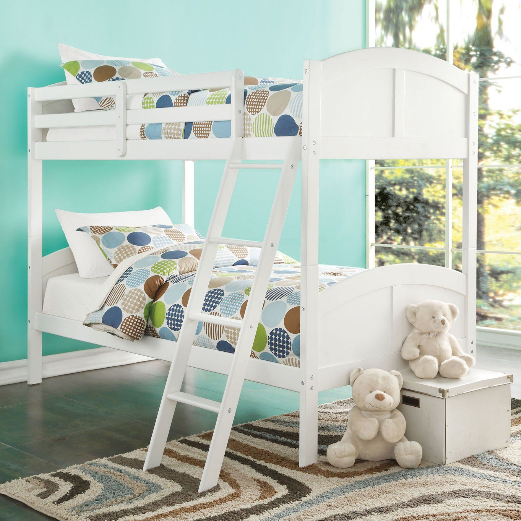 Acme Furniture Toshi Twin Over Twin Bunk Bed  White