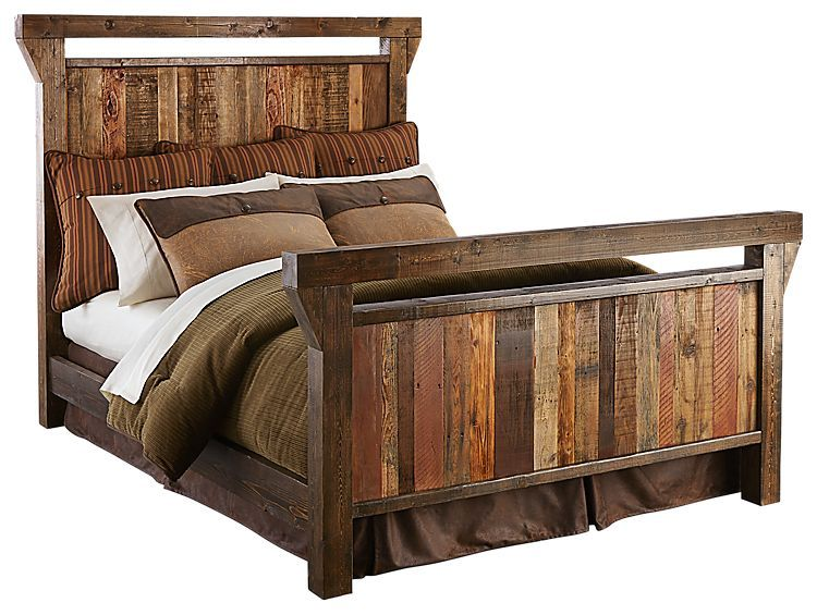 Barnwood Bedroom Furniture Collection Wood Bed Bedroom