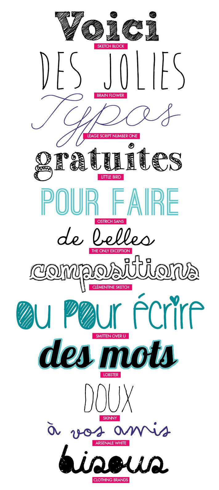 C Est Quoi Ta Typo Free Download Rentree Pinterest Fonts