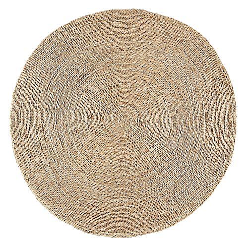 Rush Text Tapis Textiles Tapis Tapis Rond En Jonc De Mer D120cm Decoracion De Unas Deco Muebles Deco