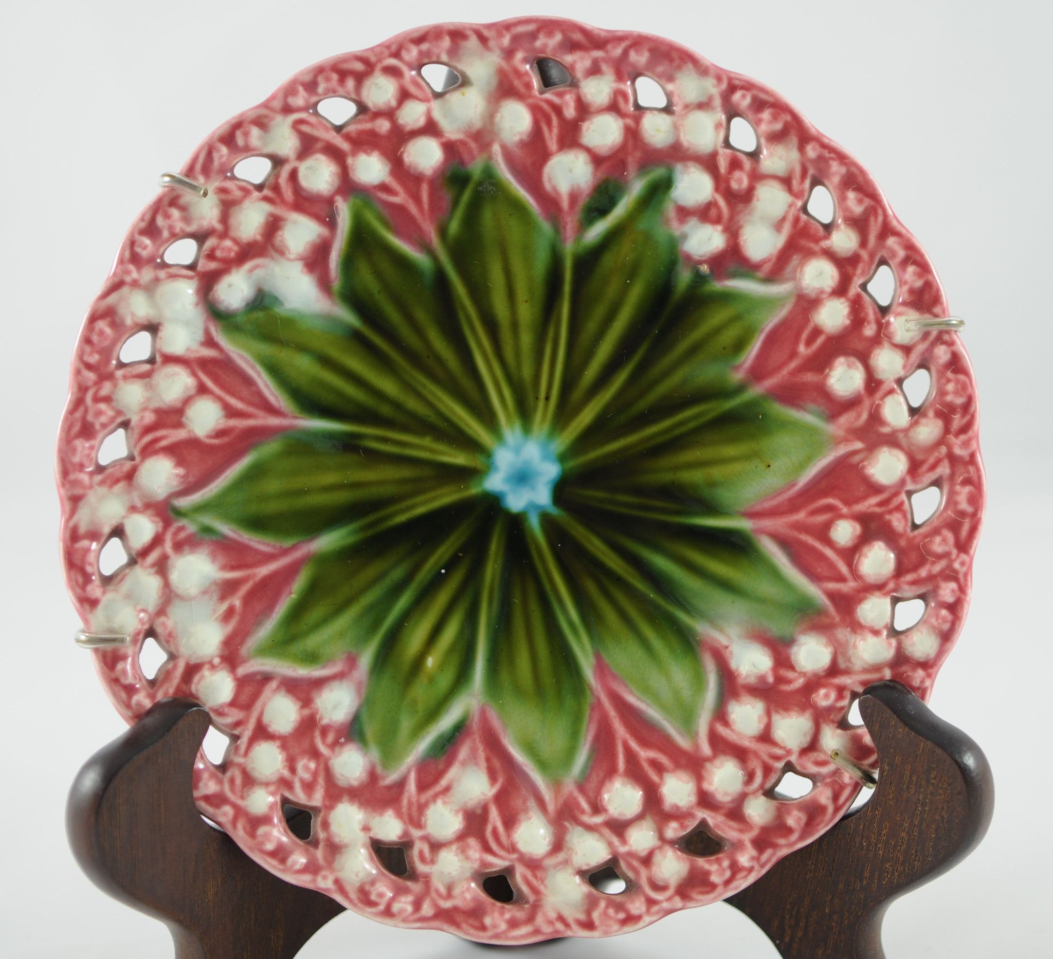 Schramberg Villeroy And Boch German Majolica Lily Of The