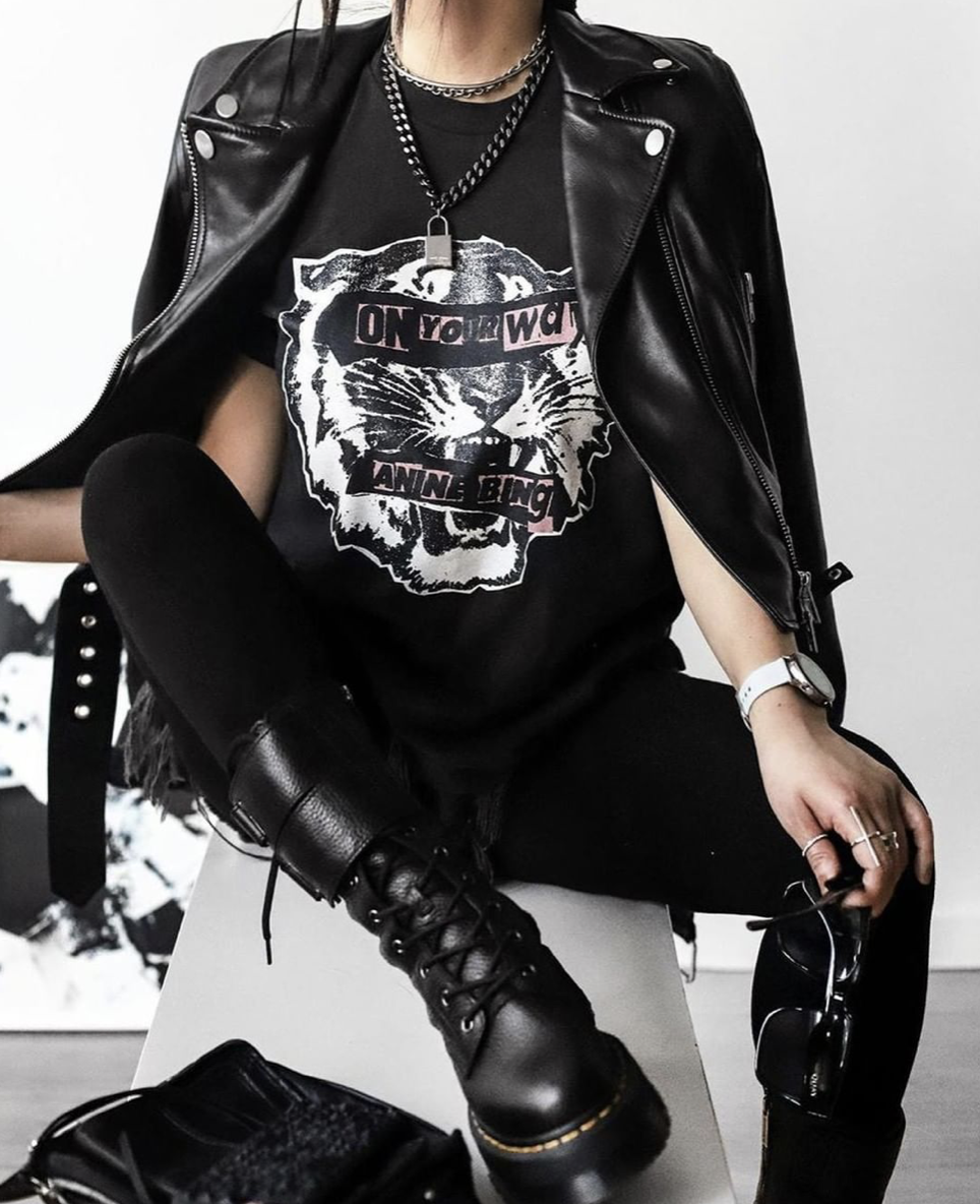 Leather Biker Jacket in Black  Fashion, Alternative outfits
