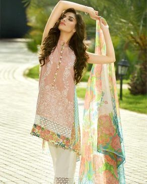 3b1cb2d1b2 Peach Lawn Embroidered Exclusive 2016 3-Piece Unstitched Suit - Exc ...