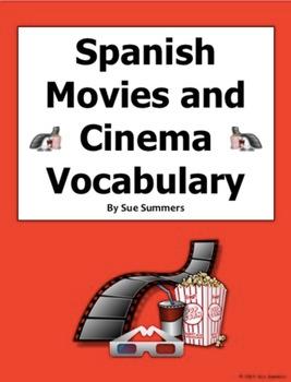 Spanish Movie And Cinema Vocabulary 90 Words Las Películas Y El Cine Spanish Movies Movies By Genre Movie Website
