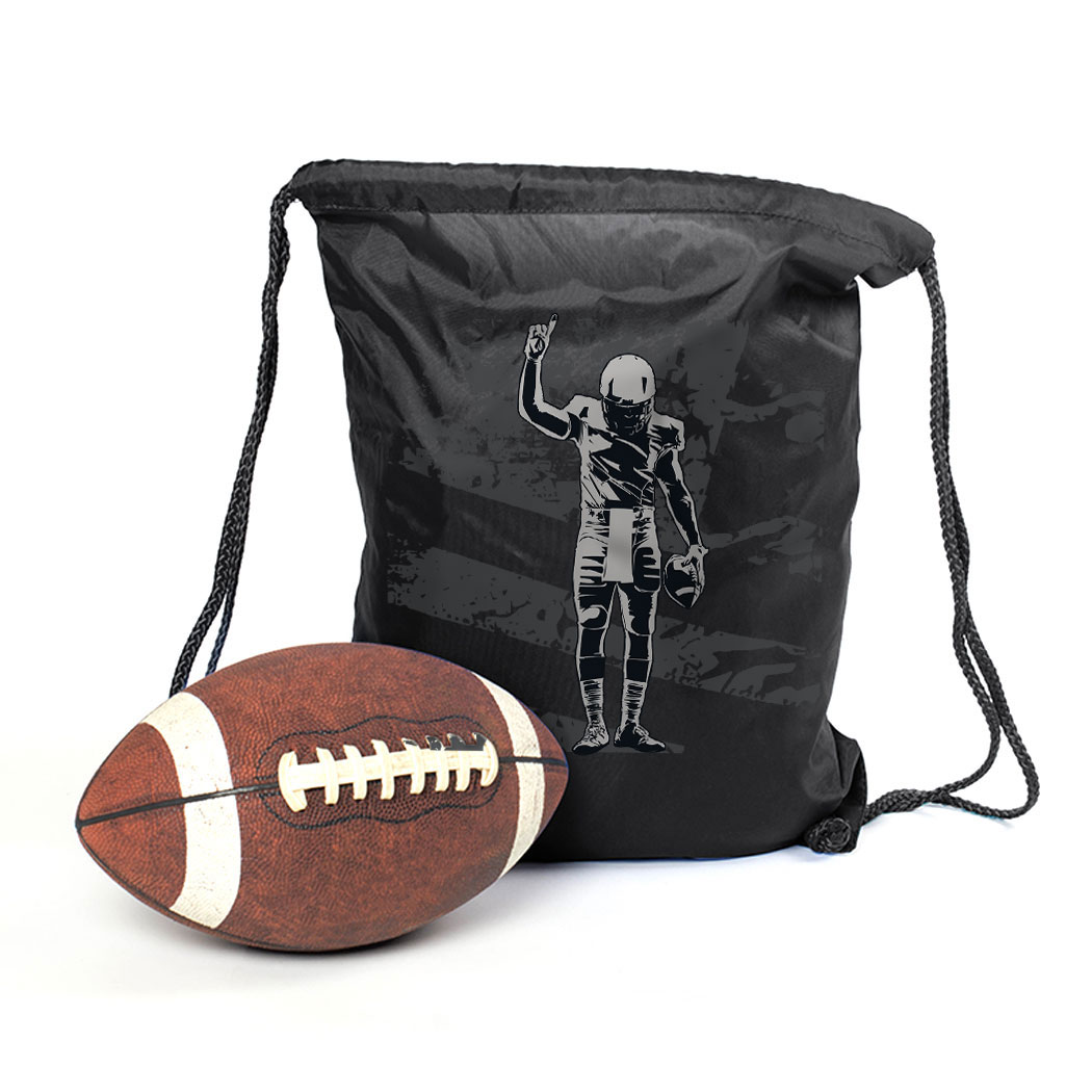 Football Drawstring Backpack Football Number One Player