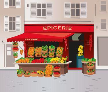 Les commerces en français - Débutant - Vocabulaire Français FRENCH