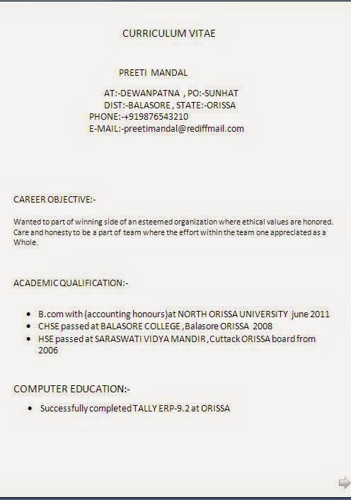example of a good cv layout Sample Template Example ofExcellent - po template