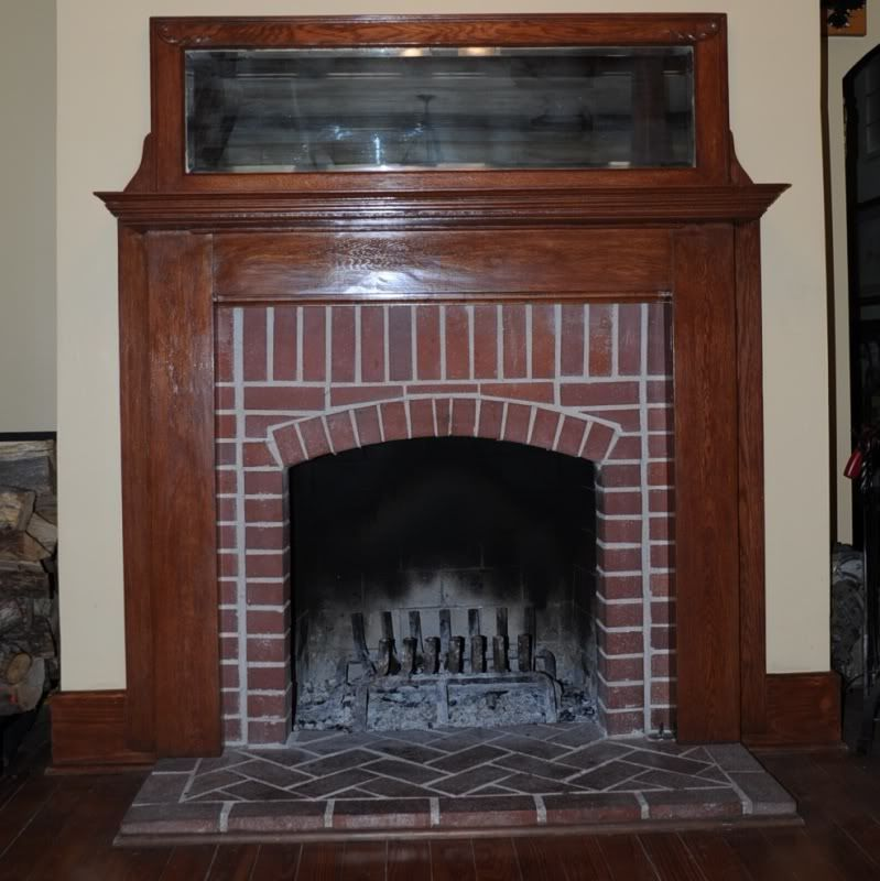 Nice Fireplaces: Nice Brick- Herringbone Hearth W/ Arch!