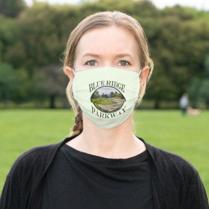 Blue Ridge Parkway Spring Country Road Cloth Face Mask | Zazzle.com