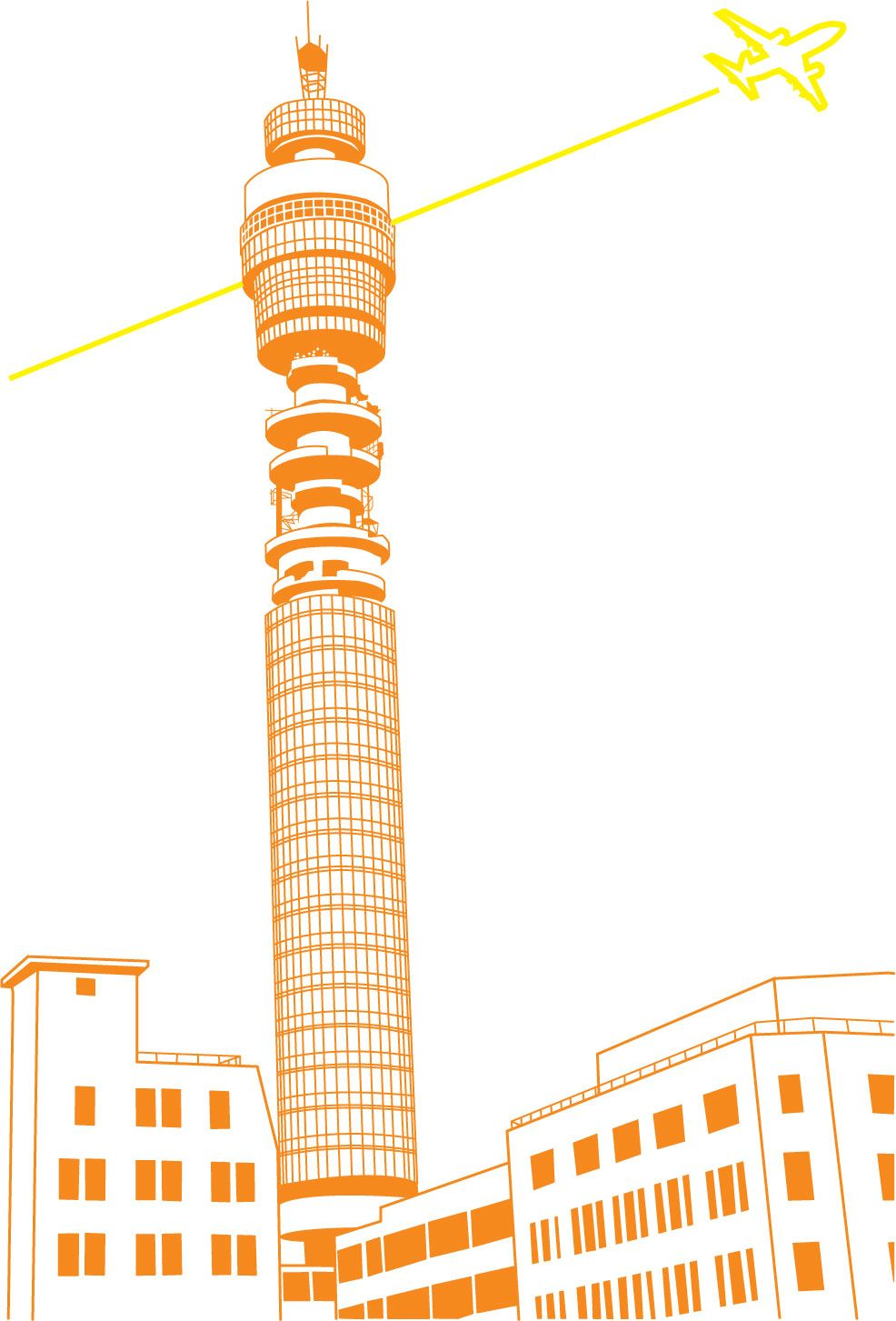 bt tower print, ready for some shade!