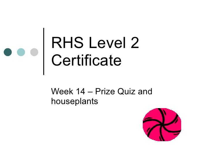 House Plants R2114 Rhs Educational Garden Week