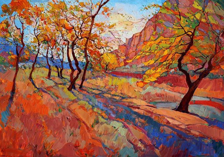 Gorgeous Open Impressionism Paintings Of Colorful Landscapes By Erin Hanson Colorful Landscape Paintings Colorful Landscape Landscape Paintings