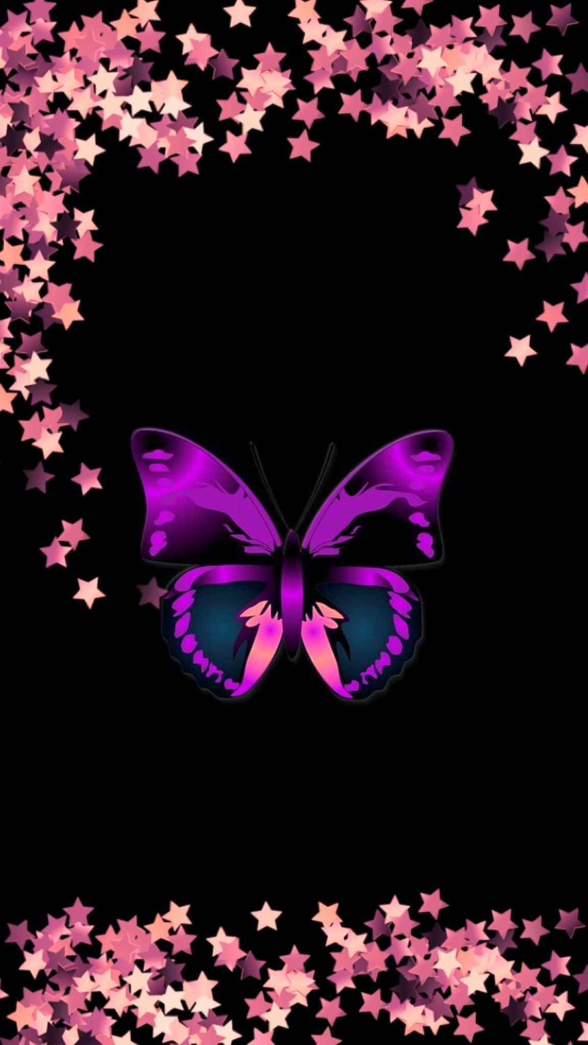 Black And Pink And Purple Butterfly Wallpaper Butterfly Art Butterfly Wallpaper Backgrounds