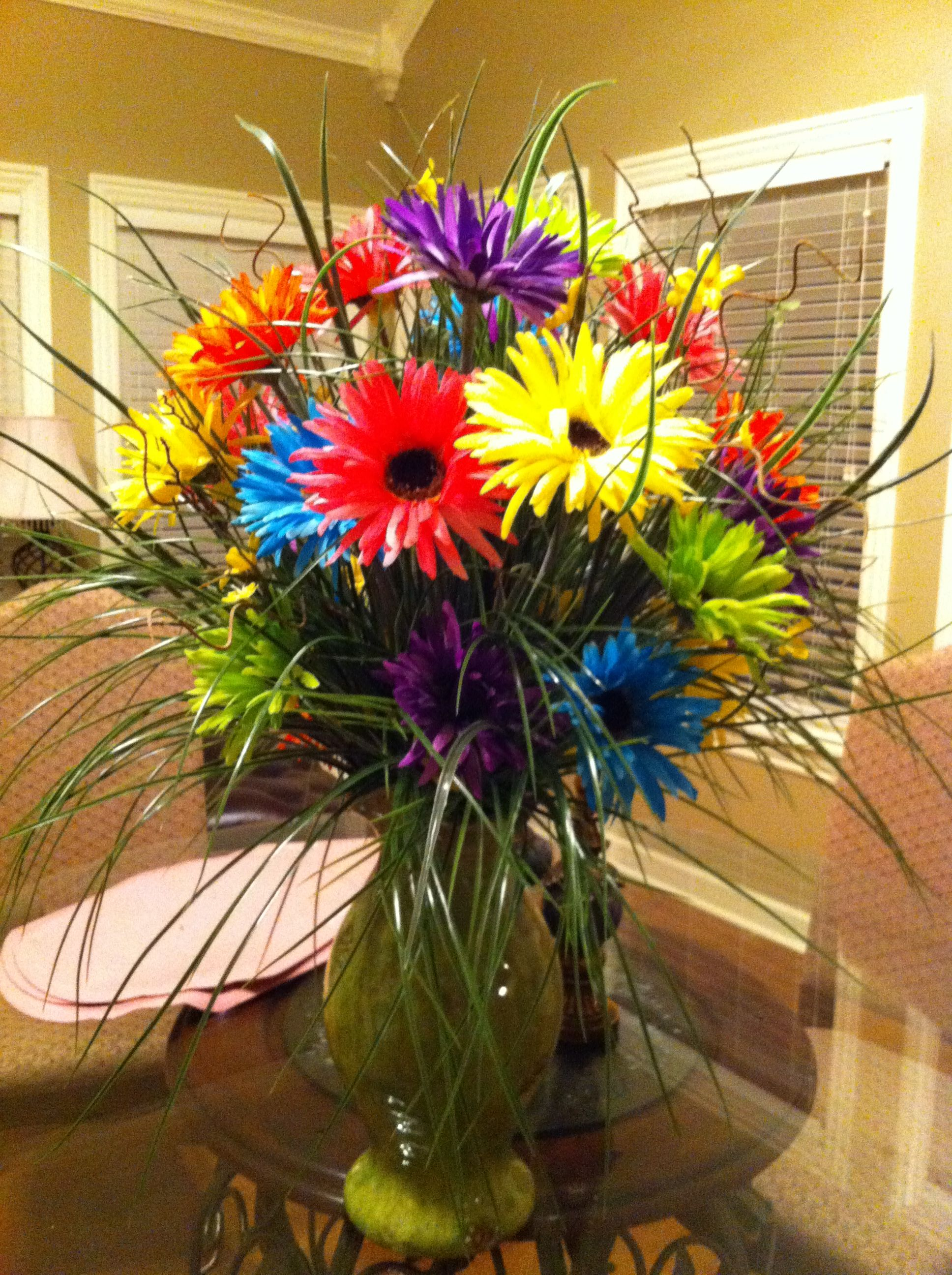 Silk Flower Arrangement Crazy Daisies Created By Linda Smith
