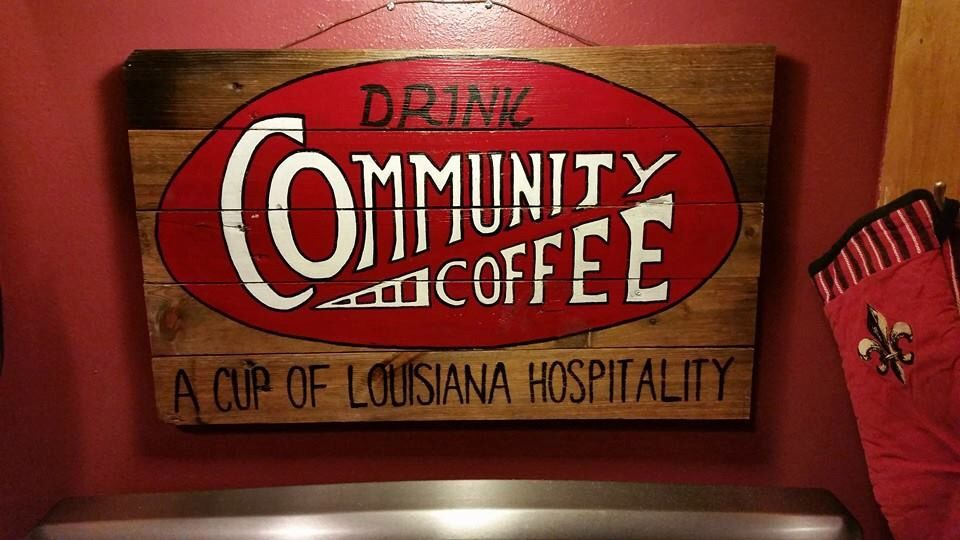 picture regarding Printable Community Coffee Coupons named Regional Espresso Indication Cajun things inside 2019 Espresso indications