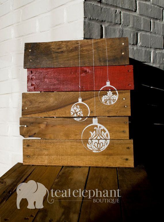 Rustic Shabby Chic Wooden Merry Christmas Ornament Hanger Wall Decoration