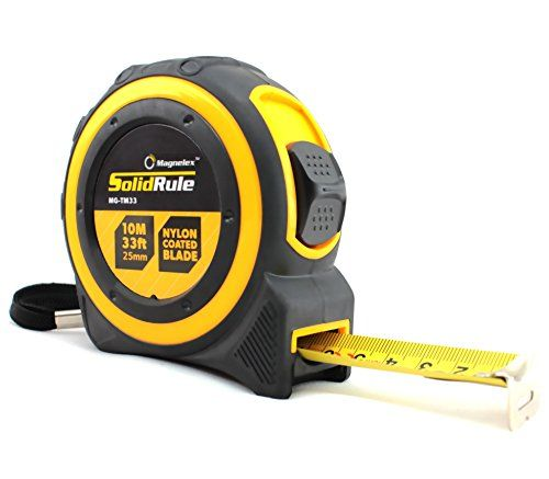 Professional Quality Tape Measure Magnelex Solidrule For Construction Home Use Hobbies Diy Smooth Sliding Nylon Coated Meas Tools Home Improvement Tape