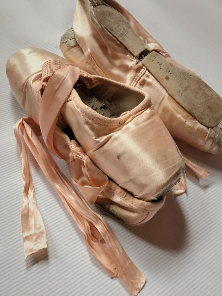 Used FREED of London Ballet Pointe Shoes, Worn/Dead