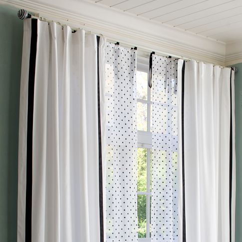 Dottie Sheer Curtain Panel Curtains Sheer Curtain Panels House Blinds