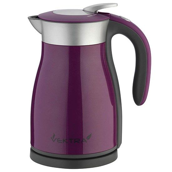 Electric Vacuum Kettle 1 7 Litre Purple Vektra