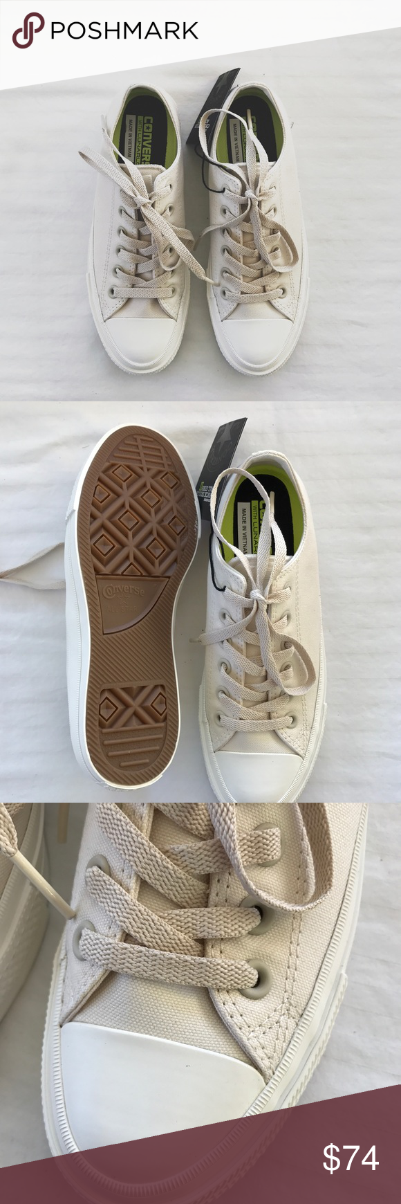 787cbc96d0a71f Converse Chuck Taylor II Nude Sneakers •The Converse Chuck II updates the  iconic original with plush Nike Lunarlon cushioning