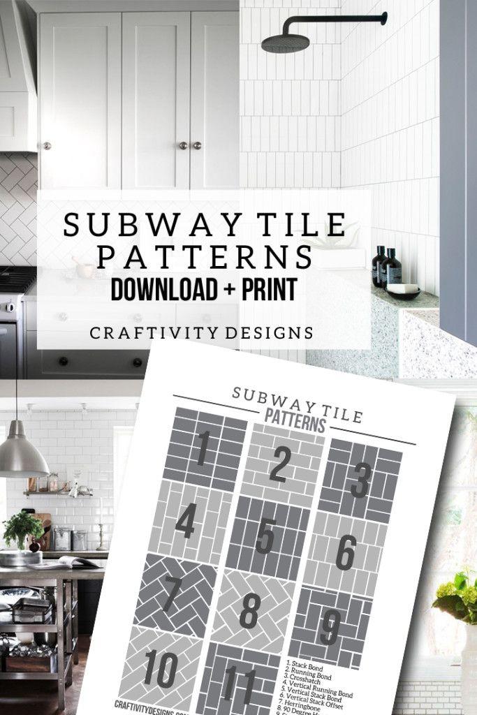 50+ Subway Tile Ideas + Free Tile Pattern Template | Subway tile ...