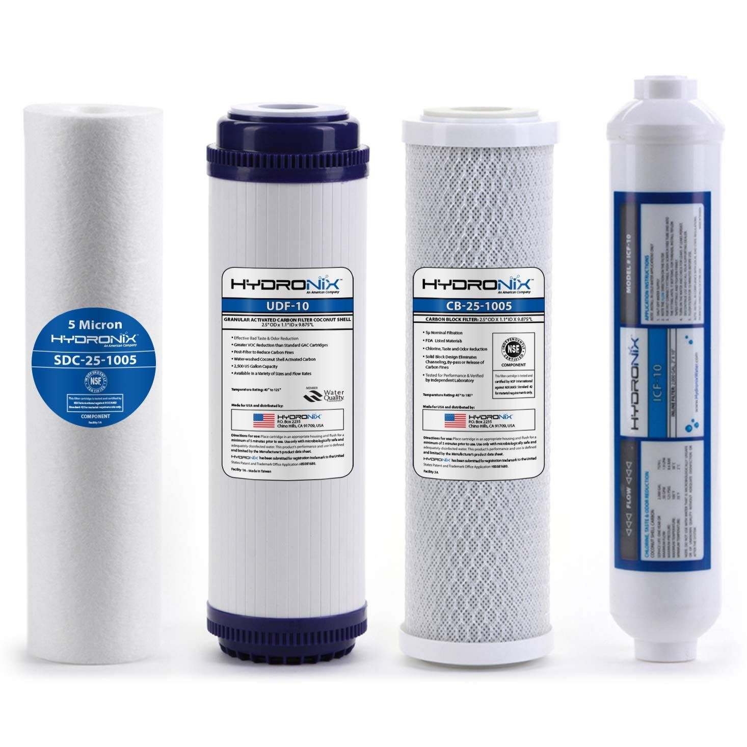 Hydronix Hx Ro 4pk 6 Stage 4pc Reverse Osmosis Ro Water Filter Cartridges Pre Reverse Osmosis Water Filter Cartridges Osmosis