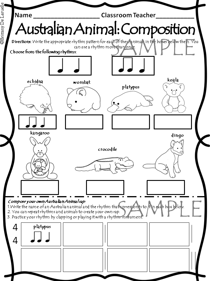 This File Includes Directions And Supplies For 5 Different Activities Manipulatives Of 12 Aust Rhythm Activities Music For Young Children Music Activities
