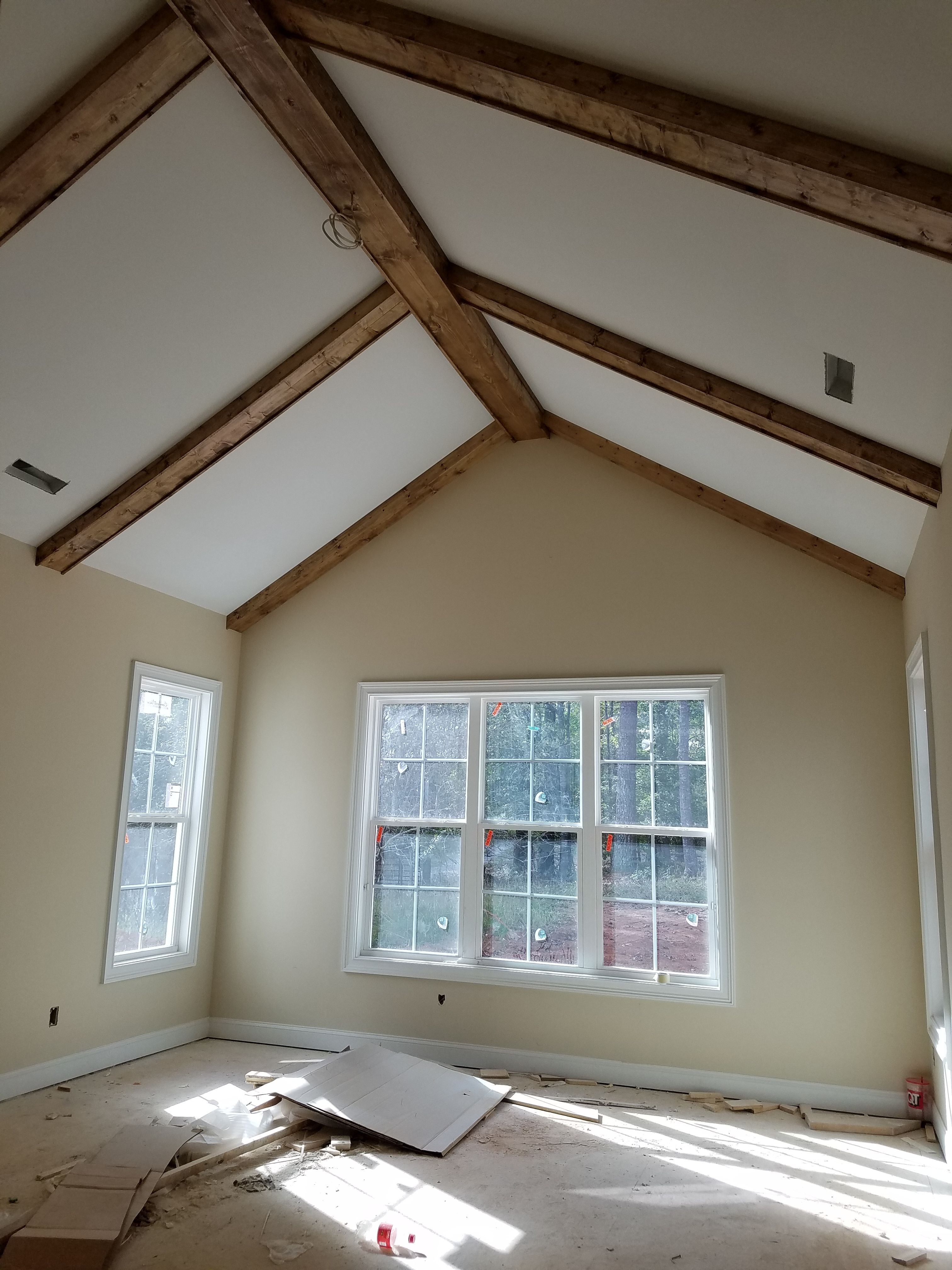 Ceiling Beams, Master Bedroom Ceiling Beams, Stained Beams, Faux ...
