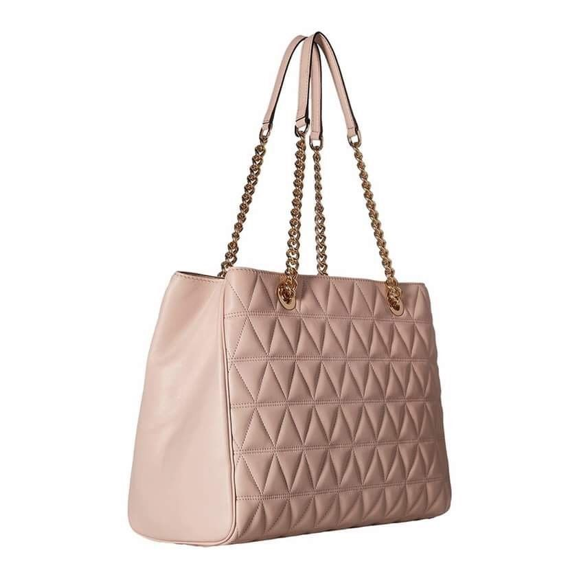 0c82ca8aaa6b NWT  398 MICHAEL KORS Scarlett Quilted Leather Large Chain Tote Bag Soft  Pink  179.5