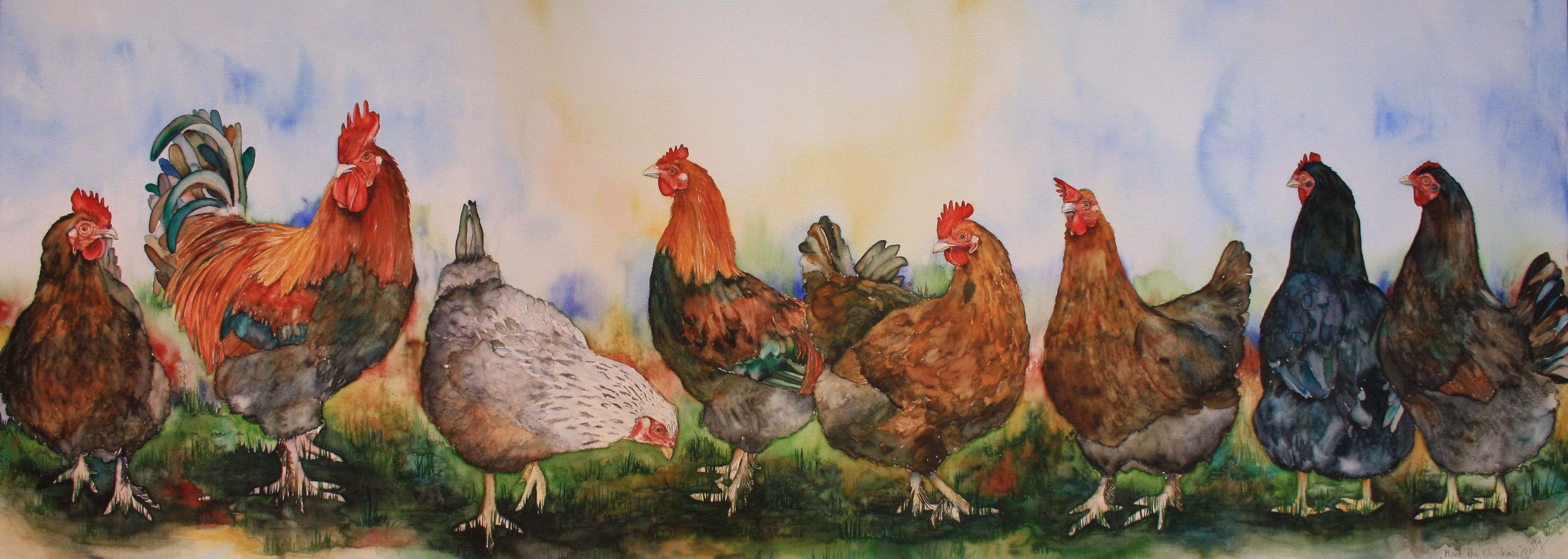 Meet the Chickens!  Dessin, Peinture, Art